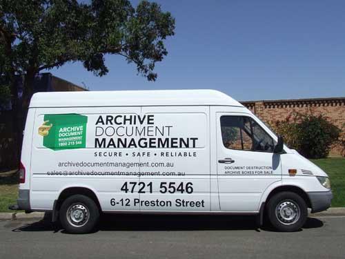 Archive Document Management van